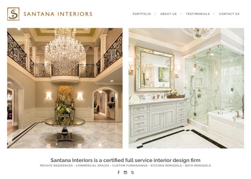 Satanta Interiors website