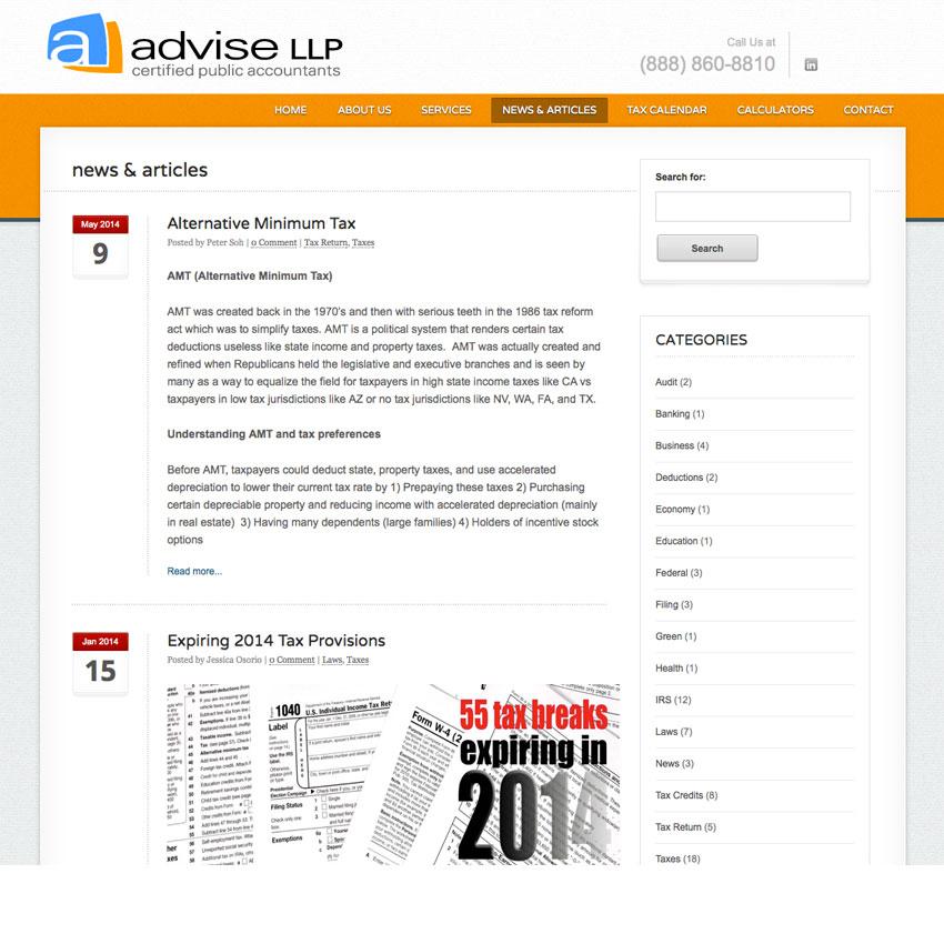 Advise LLP blog news