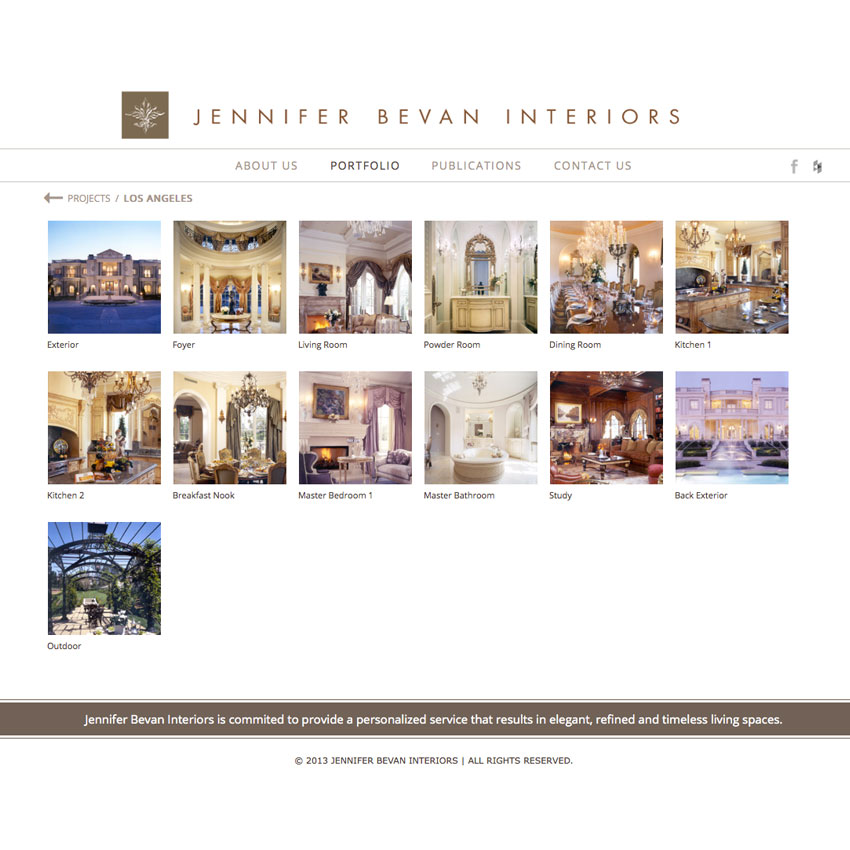 Jennifer Bevan Interiors portfolio